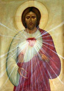 Iisus cu inima luminoasa